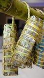 Banh tet ( cylindric glutinous rice cake) Stock Photos