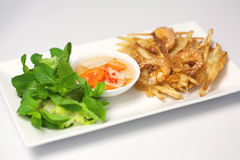 Banh Tom Chien Stock Photo