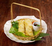 Banh trang. Chinese style .Banh trang - typically used in Vietnamese nem dishes royalty free stock images