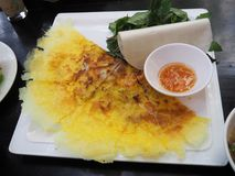 Banh Xeo - Vietnamese fried pancake Royalty Free Stock Photography