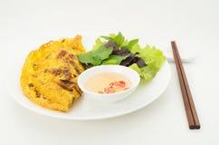 Banh Xeo, Vietnamese pancake stock photography