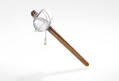 Banhammer -在棍子的老鼠 库存例证
