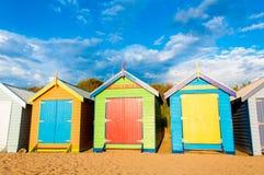 Banhando caixas em Brighton Beach, Austrália Imagem de Stock