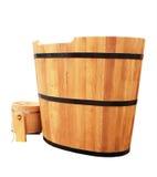Banheira de madeira Imagens de Stock Royalty Free