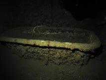 Banheira na cabine dos capitães dos SS Thistlegorm. Foto de Stock Royalty Free