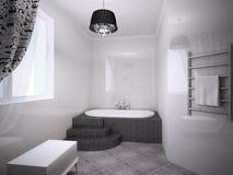 Banheiro bonito com Jacuzzi Fotos de Stock