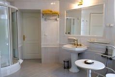 Banheiro branco Foto de Stock