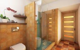 Banheiro brilhante ilustração royalty free