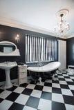 Banheiro caro preto e branco Imagens de Stock Royalty Free