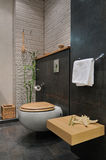 Banheiro cinzento moderno Imagens de Stock Royalty Free
