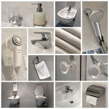 Banheiro - colagem Imagens de Stock Royalty Free