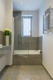 Banheiro com telhas bege Imagens de Stock