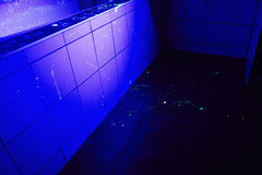 Banheiro como o lugar do crime Foto de Stock