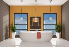 Banheiro contemporâneo Foto de Stock Royalty Free