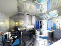 banheiro 3D Fotografia de Stock Royalty Free