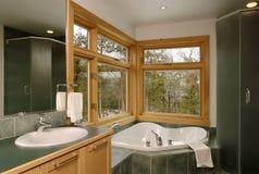 Banheiro da casa de campo Foto de Stock Royalty Free