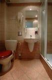 Banheiro da pensão Fotografia de Stock Royalty Free