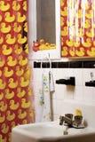 Banheiro de borracha do pato Imagem de Stock