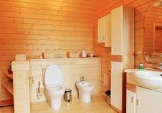 Banheiro de madeira fotos de stock