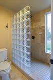 Banheiro do bloco de vidro Imagens de Stock