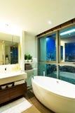 Banheiro do estilo contemporâneo Foto de Stock Royalty Free