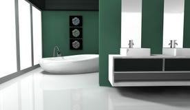 Banheiro do projeto interior Fotos de Stock Royalty Free
