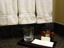 Banheiro do quarto de hotel Foto de Stock
