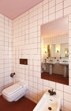 Banheiro encantador no estilo clássico Fotos de Stock