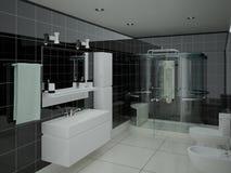 Banheiro funcional moderno Ilustração do Vetor