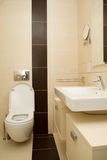 Banheiro limpo moderno Imagens de Stock