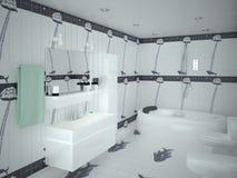 Banheiro luxuoso moderno Ilustração Royalty Free
