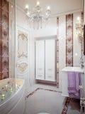 Banheiro luxuoso no estilo clássico Imagens de Stock