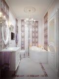Banheiro luxuoso no estilo clássico Foto de Stock