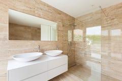 Banheiro moderno Foto de Stock Royalty Free