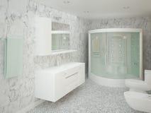 Banheiro moderno com azulejos elegantes Foto de Stock Royalty Free