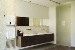 Banheiro moderno com bacia fotografia de stock