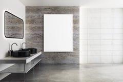 Banheiro moderno com cartaz ilustração do vetor