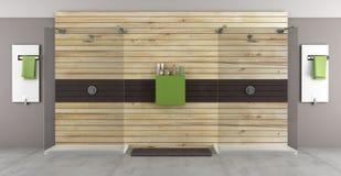 Banheiro moderno com chuveiro dobro Fotografia de Stock