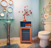 Banheiro moderno na moda Fotografia de Stock