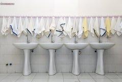 Banheiro público fotografia de stock