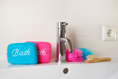 Banheiro para ele e ela Foto de Stock Royalty Free