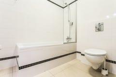 Banheiro preto e branco Imagem de Stock Royalty Free