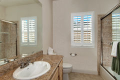 Banheiro simples Foto de Stock Royalty Free