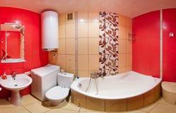 Banheiro vermelho Imagem de Stock