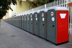 Banheiros portáteis Fotografia de Stock