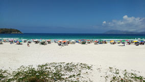 Banhista COM Praia Στοκ Εικόνες