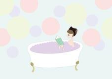 banho ilustração stock