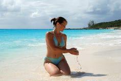 Banho da areia Foto de Stock Royalty Free