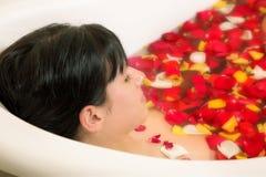 Banho da mulher Fotografia de Stock Royalty Free