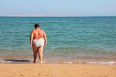 Banho da mulher do excesso de peso Foto de Stock Royalty Free